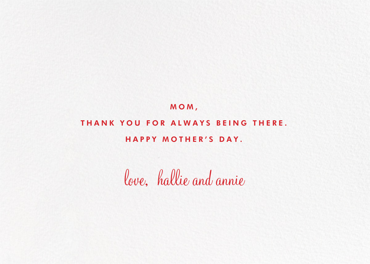 Happy Mothers Day Script - Pink - Paperless Post - Back