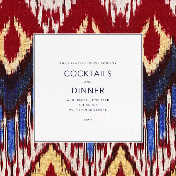 Ikat - Oscar de la Renta - Cocktail party