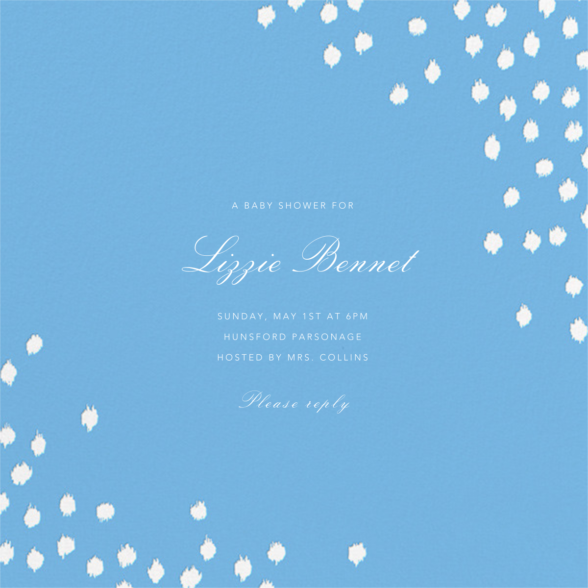 Ikat Dot (Square) - Light Blue - Oscar de la Renta - Baby shower