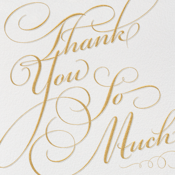 how to say thank you so much