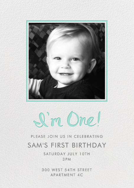 I'm One (Photo) - Green - Linda and Harriett - 1st birthday