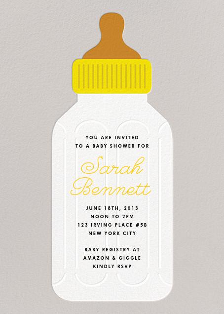 Baby Bottle - Yellow - The Indigo Bunting - Baby shower