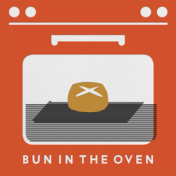 Bun In The Oven - Red - The Indigo Bunting - Baby shower