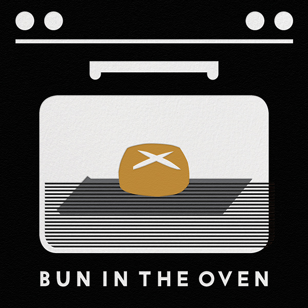 Bun In The Oven - Black - The Indigo Bunting - Baby shower