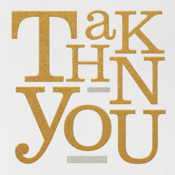 Storybook Thank You - Metallic - Paperless Post