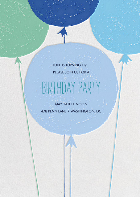 Floating with Love - Blue - Mr. Boddington's Studio - Kids' birthday
