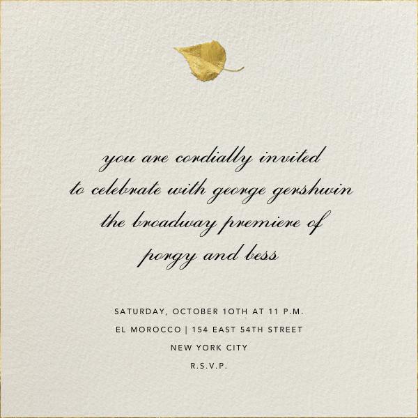 Gold Leaf - Cream - Paperless Post - Autumn entertaining