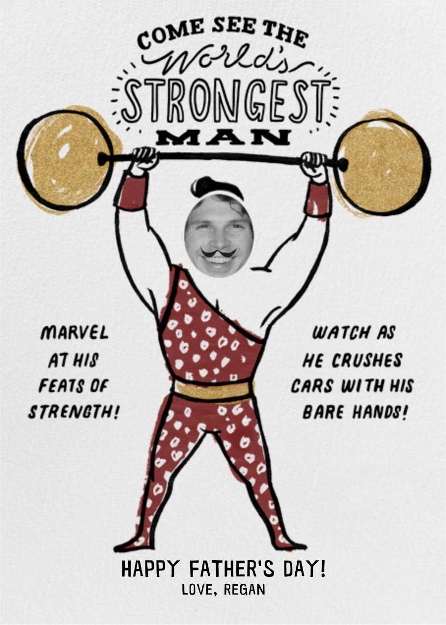 Strongman - Gold - Paperless Post - Father's Day