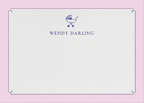 Dropstitch - Blush and Royal Blue - Paperless Post - Kids' stationery