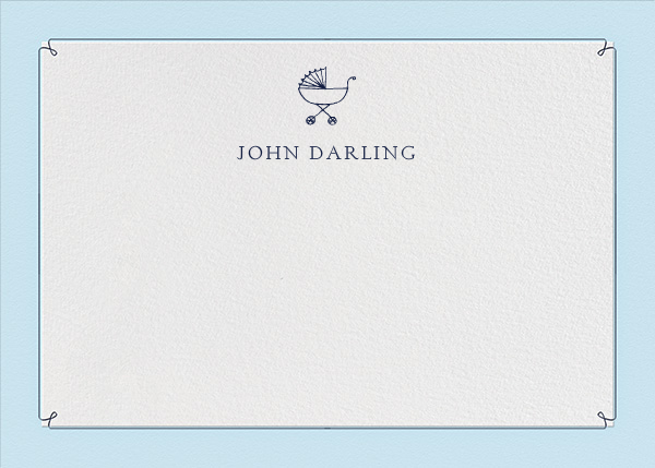 Dropstitch - Harbor and Navy - Paperless Post - Kids' stationery