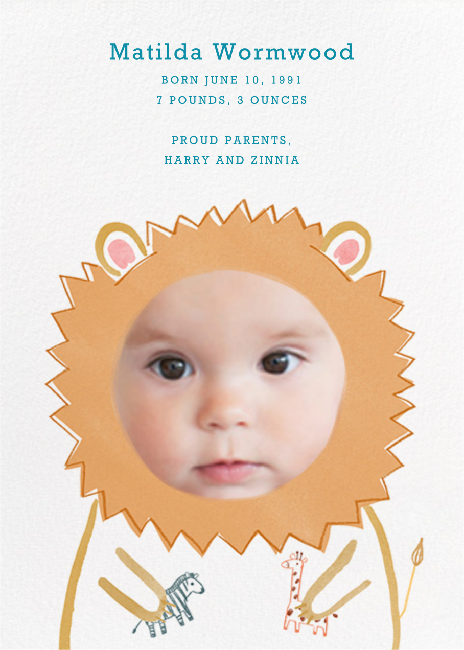 Baby Lion - Paperless Post - null