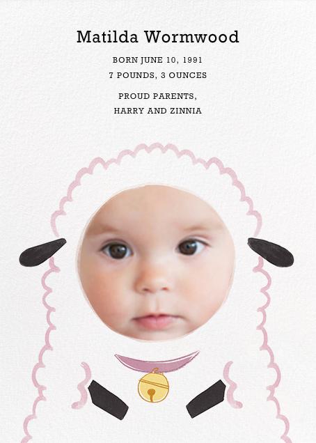 Baby Lamb - Girl - Paperless Post