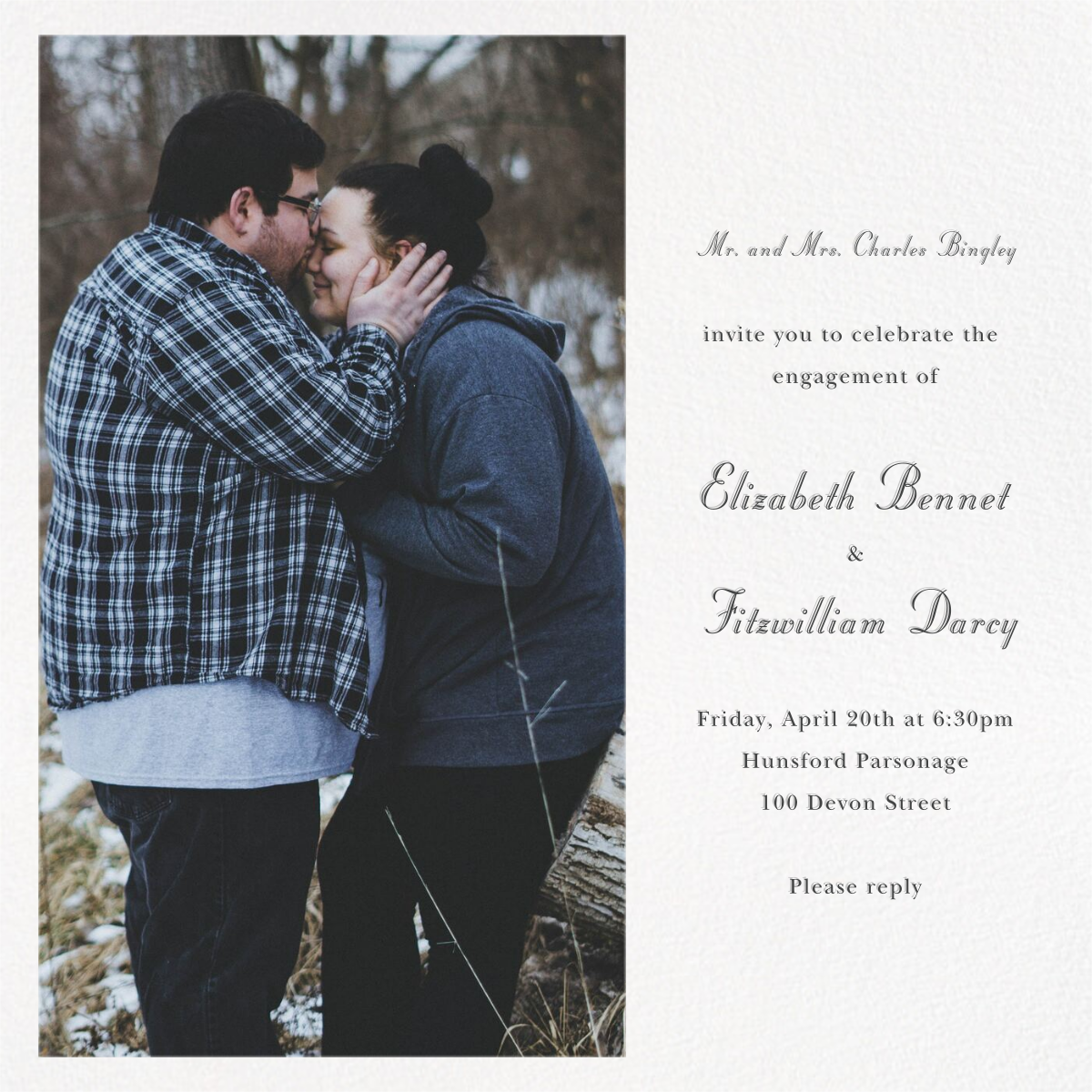 Split Square - Paperless Post - Engagement party