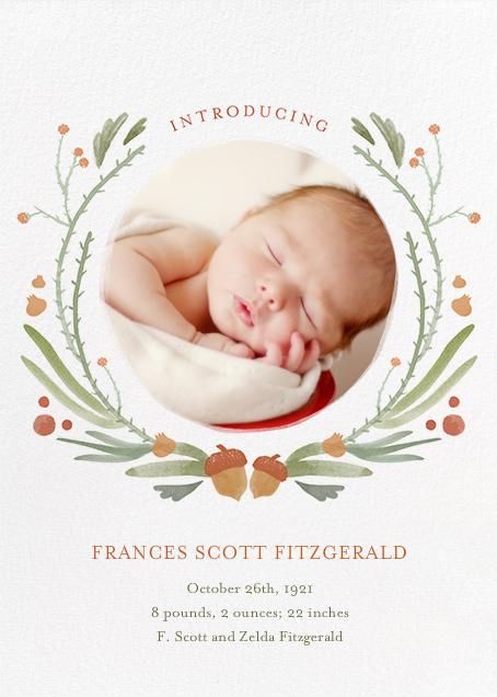 Bramble Garland - Paperless Post - Birth