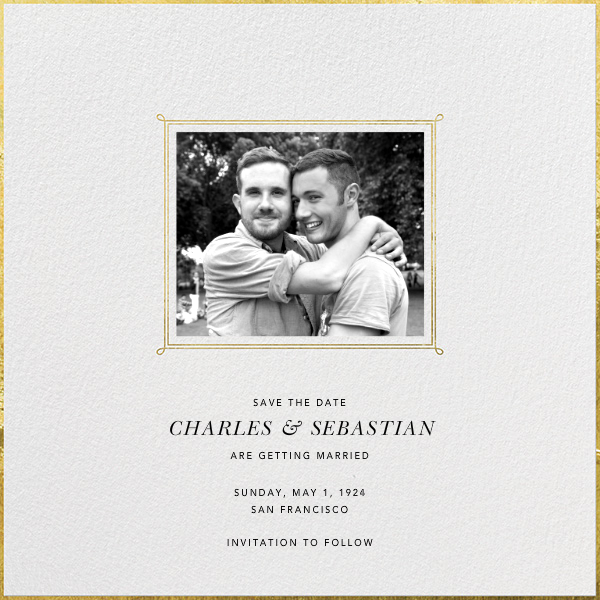 Traditional Frame - Paperless Post - Party save the dates