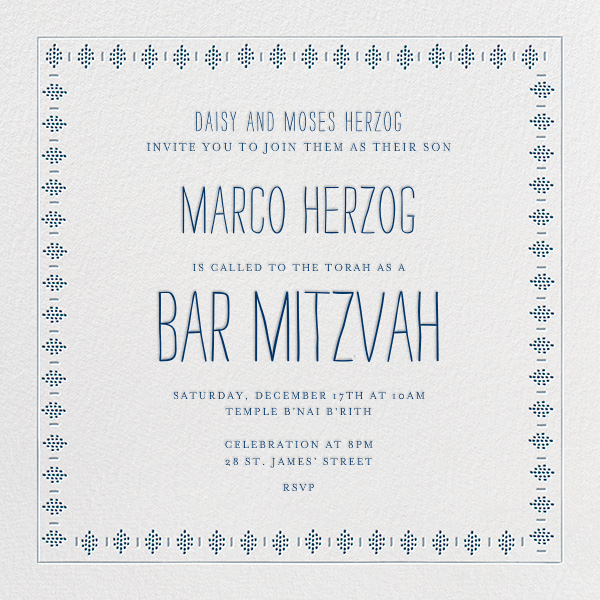 Sunburned Again - Blue Bar Mitzvah - Mr. Boddington's Studio