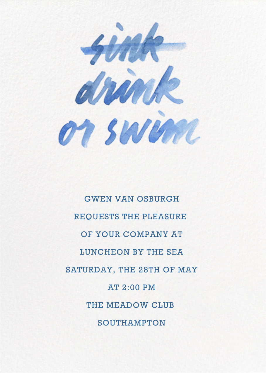 Drink Or Swim - Paperless Post - Beach party