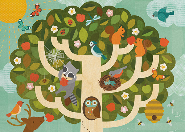 Treetop - Petit Collage - Baby shower
