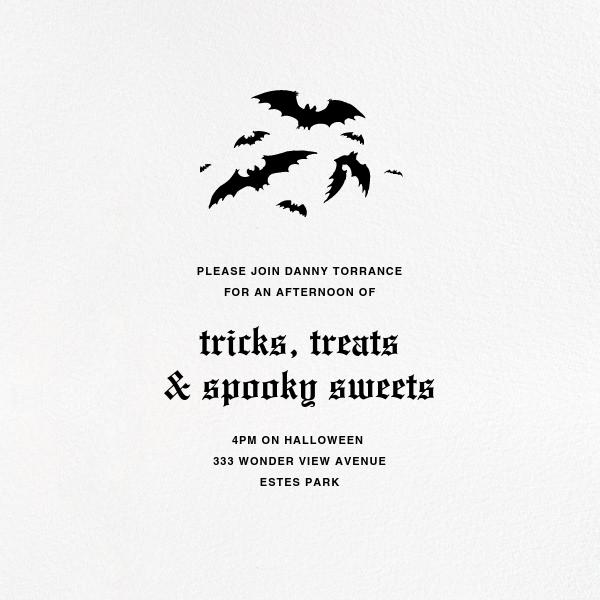 White (Square) - Paperless Post - Halloween
