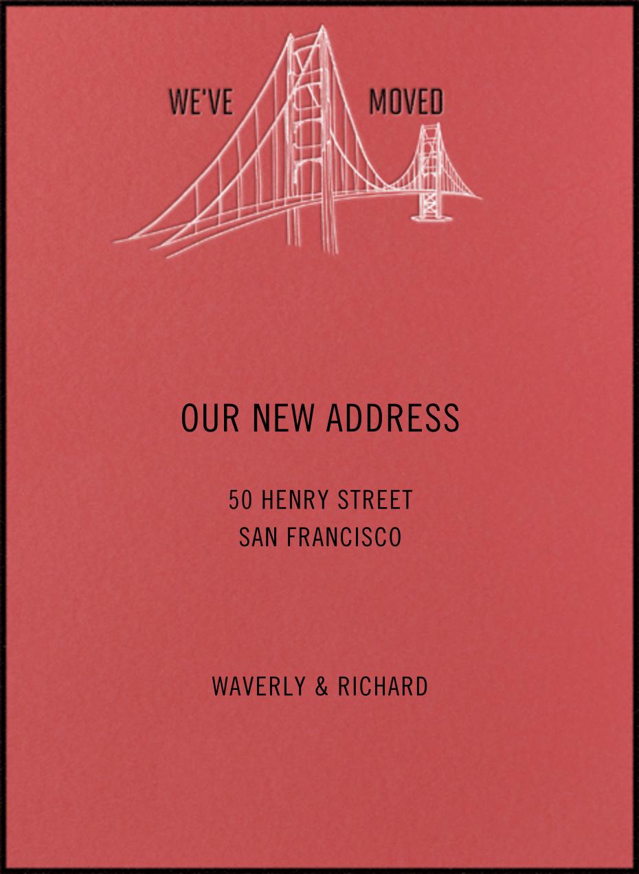Golden Gate Bridge (Coral) - Paperless Post
