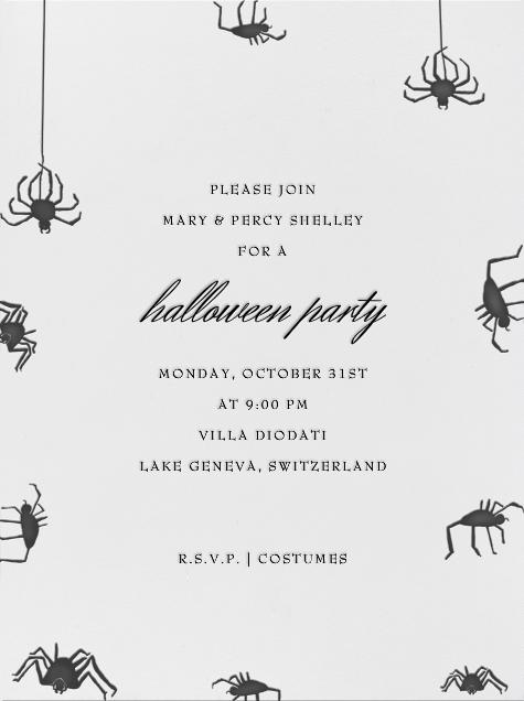 Spiders (Ivory) - Paperless Post - Halloween