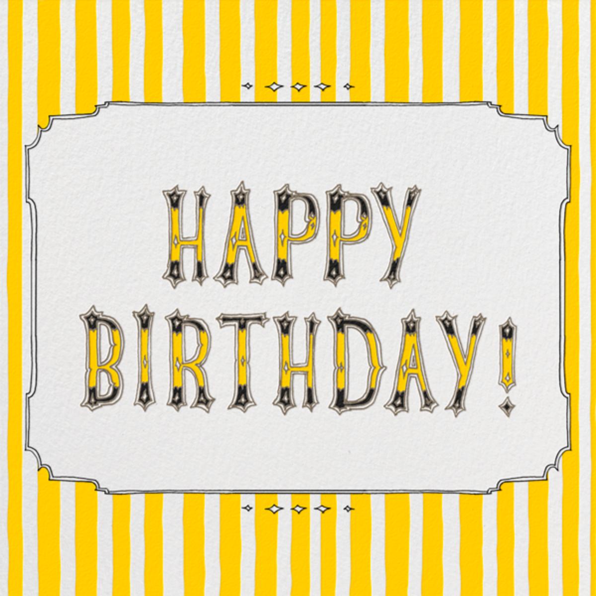 Cirque (Happy Birthday) - Yellow - Paperless Post