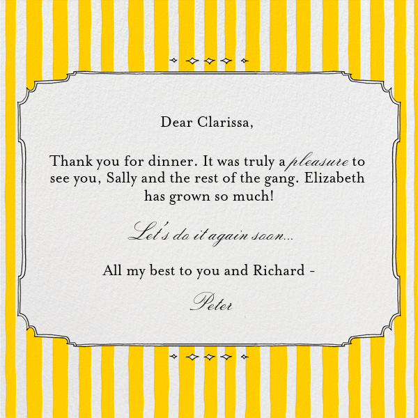 Cirque (Thanks) - Yellow - Paperless Post - Thank you - card back