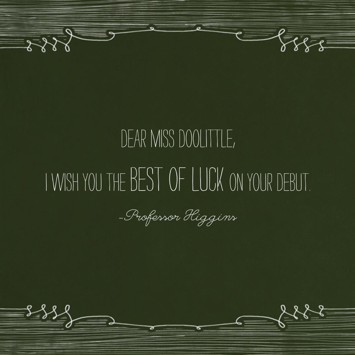Chalkboard - Good Luck - Paperless Post - Back