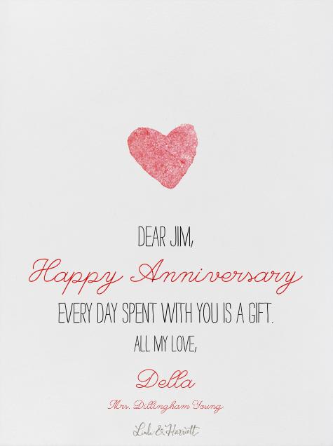 I Love You - Linda and Harriett - Anniversary - card back