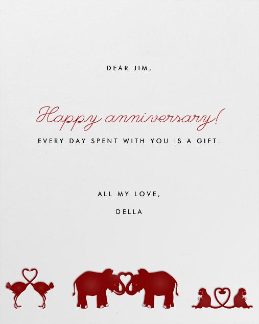 Jungle Valentine - Paperless Post - Anniversary