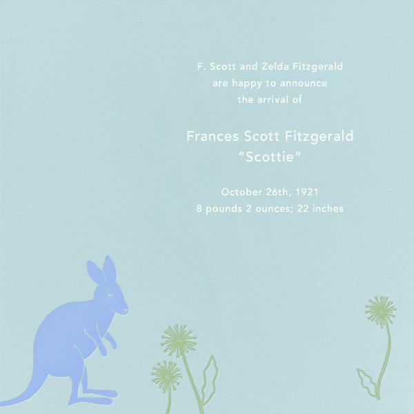 Kangaroo (Light Blue) - Paperless Post - null - card back