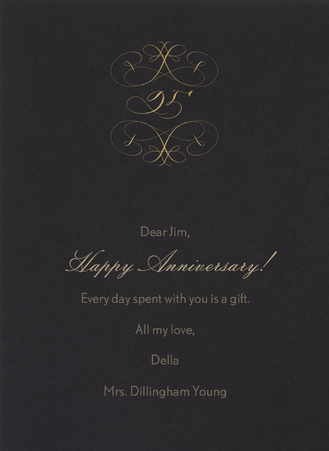 25th Anniversary - Bernard Maisner - Anniversary cards