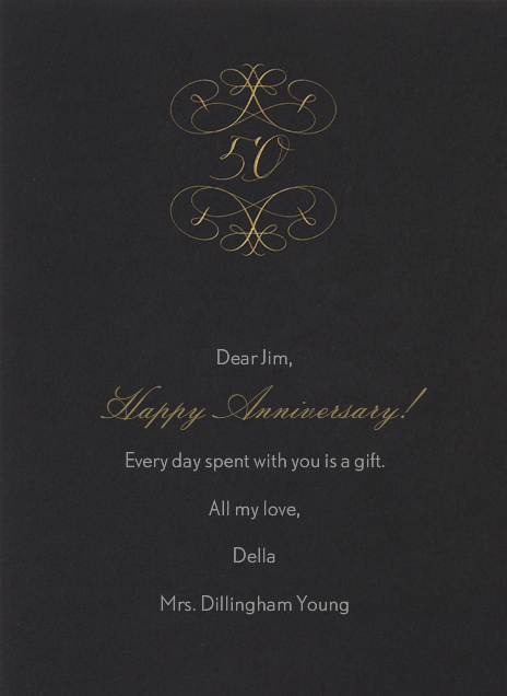 50th Anniversary - Bernard Maisner - Anniversary cards