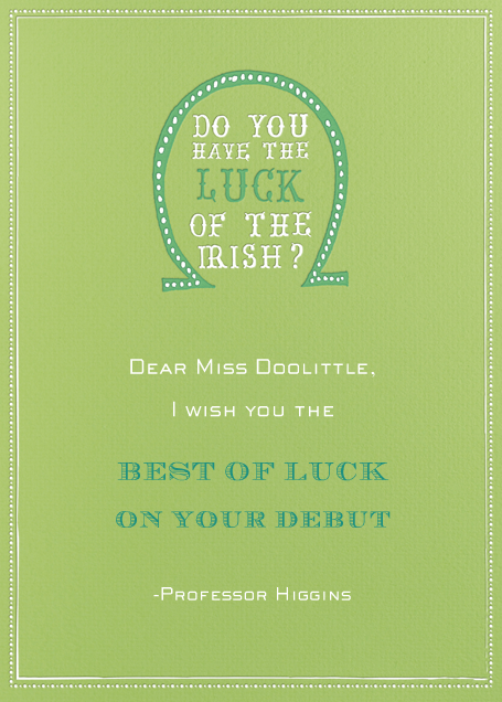 Luck of The Irish - Charterhouse - Mr. Boddington's Studio - Good luck