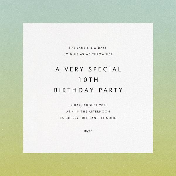 Gradient Border - Green - Paperless Post - Adult birthday