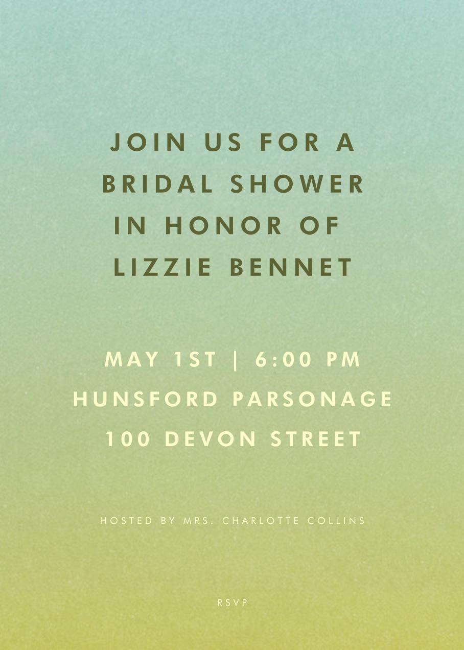 Gradient Full - Green - Paperless Post - Bridal shower