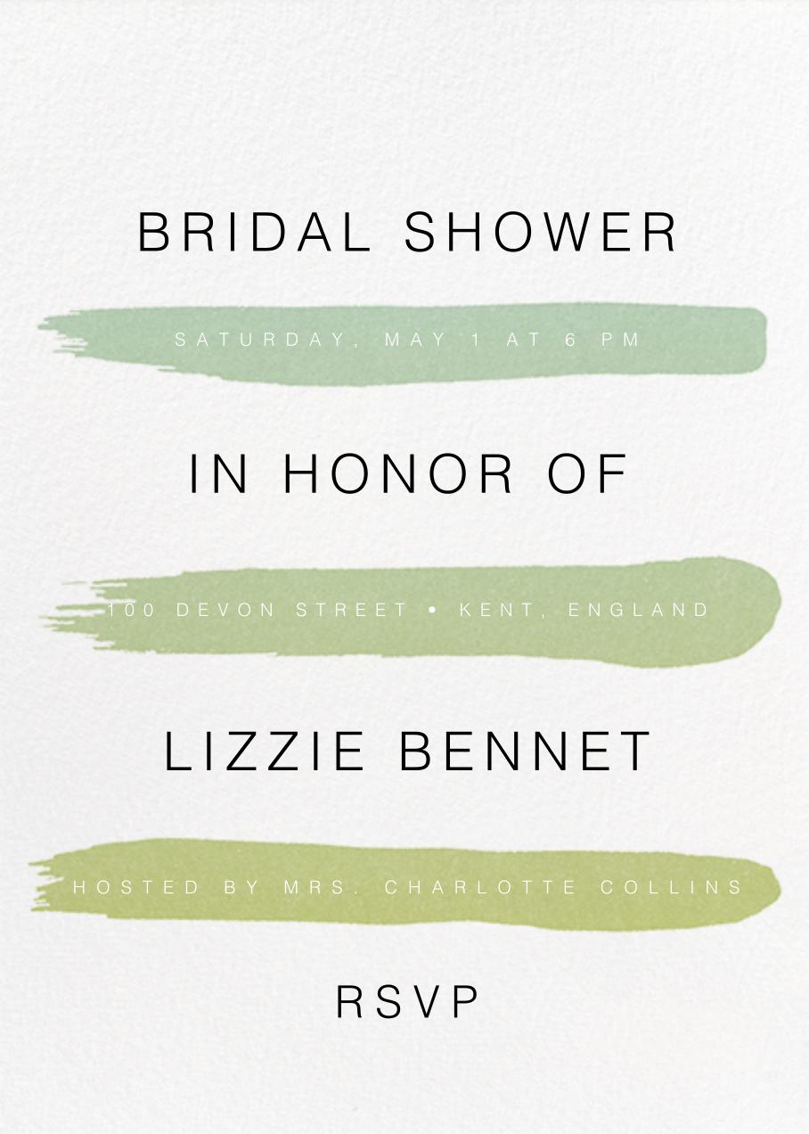 Gradient Brush Strokes - Green - Paperless Post - Bridal shower
