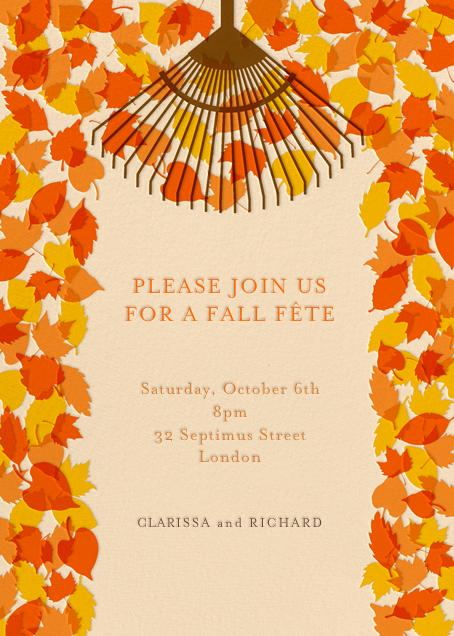 Rake It In - Paperless Post - Autumn entertaining
