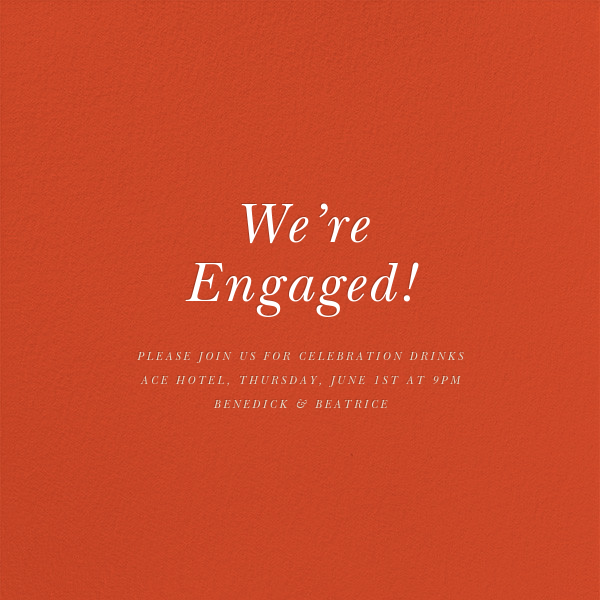 True Love Chart - Derek Blasberg - Engagement party - card back