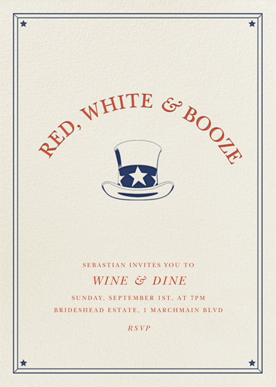 Red White and Booze - Derek Blasberg - 4th of July