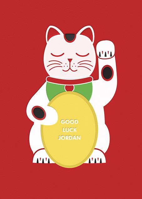 Lucky Cat - Paperless Post - Good luck