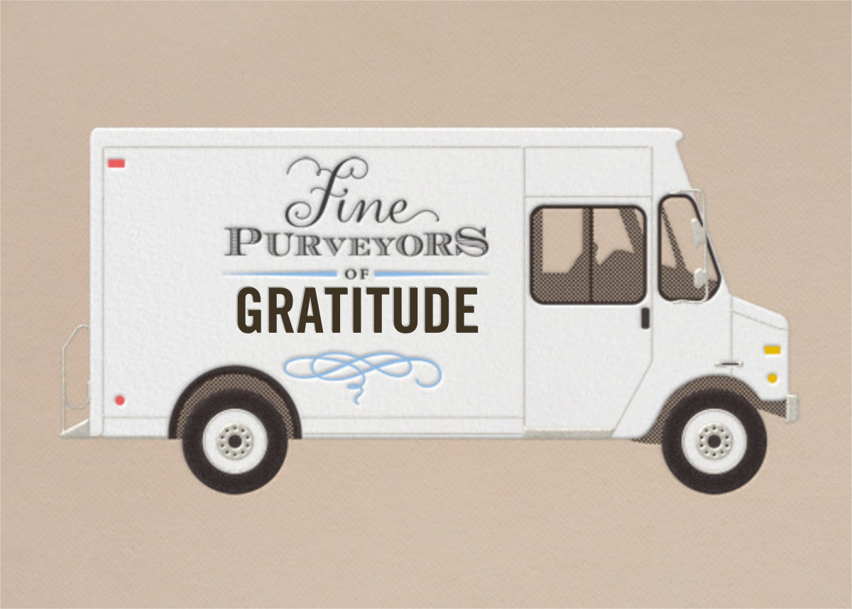Gratitude - Delivery Truck - Paperless Post - Thank you