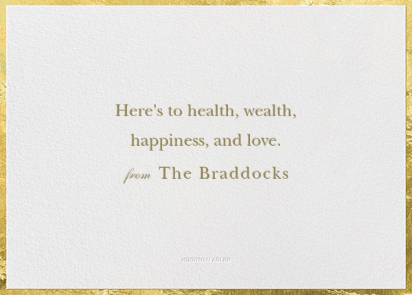 Peace and Love - Jonathan Adler - Holiday cards - card back