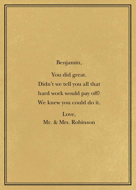 Tree Rings - Congratulations (Graduation) - Paperless Post - Graduation - card back