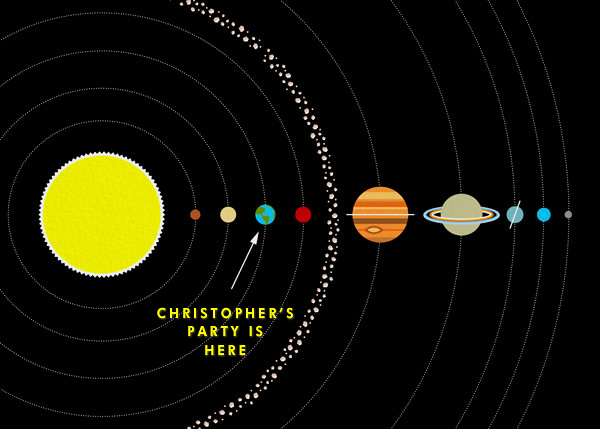 Solar System - Paperless Post - Kids' birthday