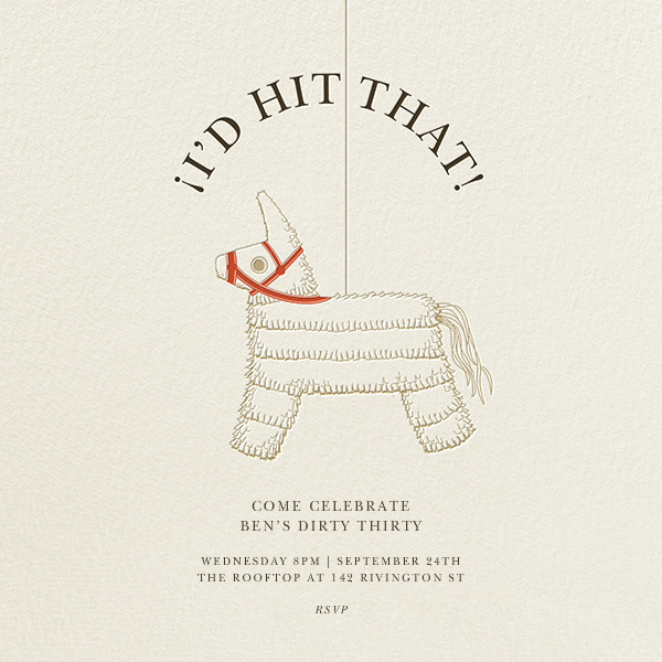 Pinata Partay - Derek Blasberg - Adult birthday