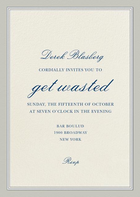 Let's Get Wasted - Derek Blasberg - Adult birthday
