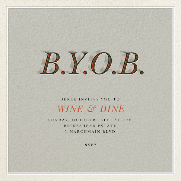 BYOB - Derek Blasberg - Cocktail party