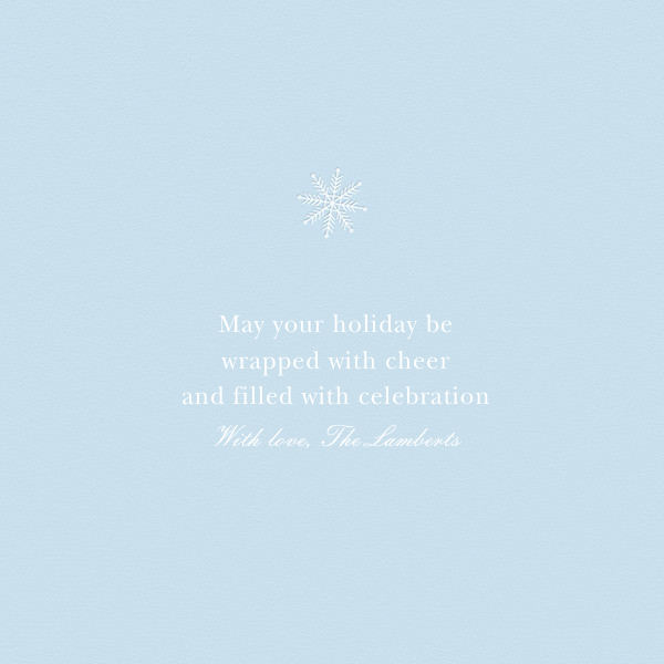Let It Snowflake - Paperless Post - null - card back