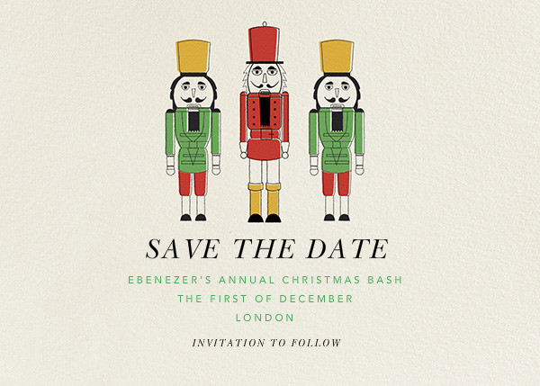 We Three Nutcrackers - Paperless Post - Save the date
